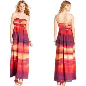 NWT Jessica Simpson Strapless Sunset Maxi Dress 8